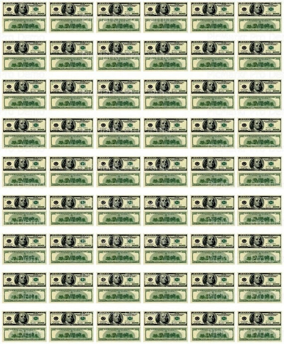 100 Dollar Money Background - Edible Cake and Cupcake Topper For Birthday's and Parties! - D20154