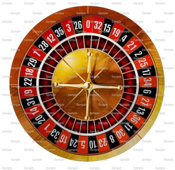 Casino Roulette Wheel Las Vegas Birthday - Edible Cake and Cupcake Topper For Birthday's and Parties! - D10022