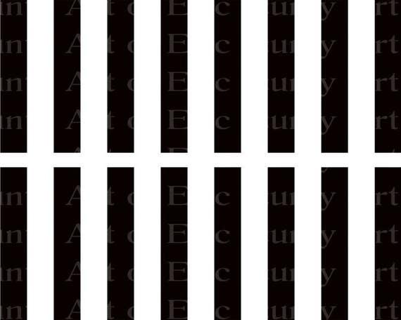 Black Stripes - Side Strips ~ Edible 2D Fondant Birthday Cake Side Toppers ~ D22412