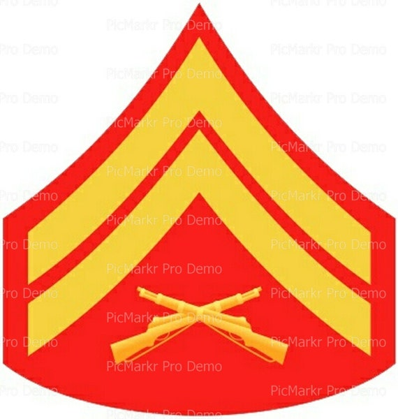 Marine Corporal Military Insignia Birthday ~ Edible 2D Fondant Birthday Cake/Cupcake Topper ~ D20487