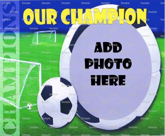 Soccer Champion ~ Edible 2D Fondant Birthday Photo Frame Cake/Cupcake Topper ~ D4443