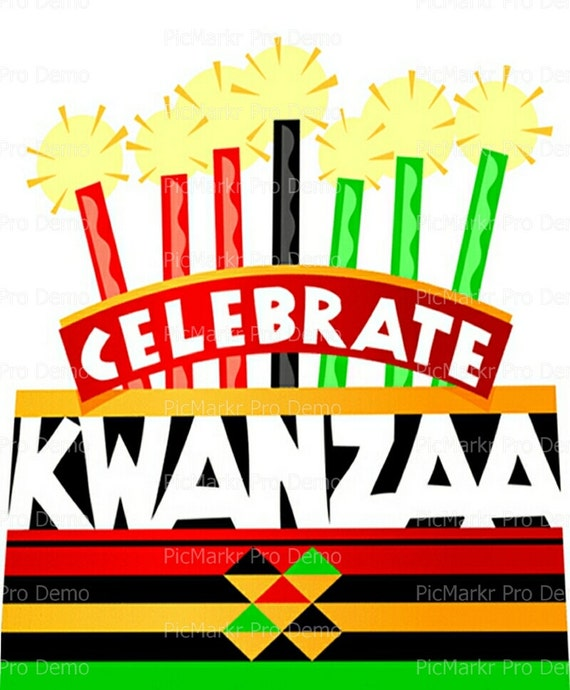 Kwanzaa ~ Edible 2D Fondant Birthday Cake/Cupcake Topper ~ D9343