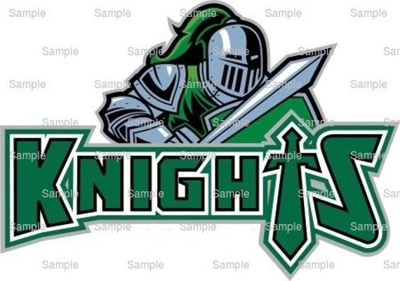 Knights Mascot Birthday ~ Edible 2D Fondant Birthday Cake/Cupcake Topper ~ D938