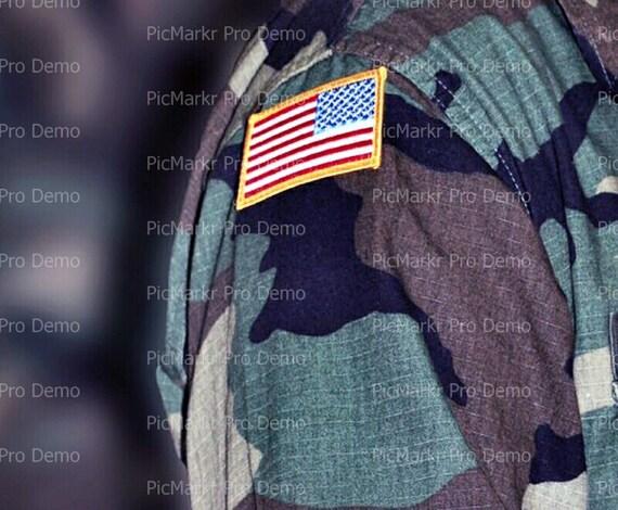 United States Military Flag ~ Edible 2D Fondant Birthday Cake/Cupcake Topper ~ D9357