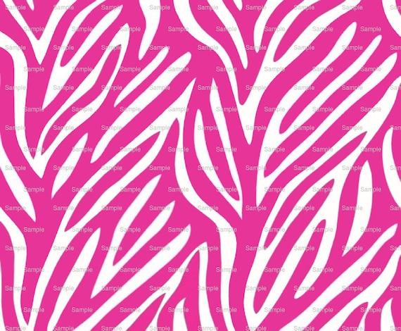 Pink Zebra Print - Background Birthday ~ Edible 2D Fondant Birthday Cake/Cupcake Topper ~ D1345