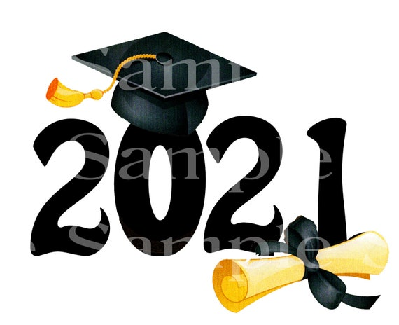 Class of 2021 Graduation Party ~ Edible 2D Fondant Birthday Cake/Cupcake Topper ~ D24572