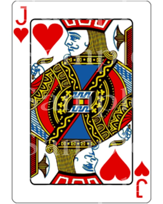 Jack of Hearts Poker Card Las Vegas Casino Birthday ~ Edible 2D Fondant Birthday Cake/Cupcake Topper ~ D21948