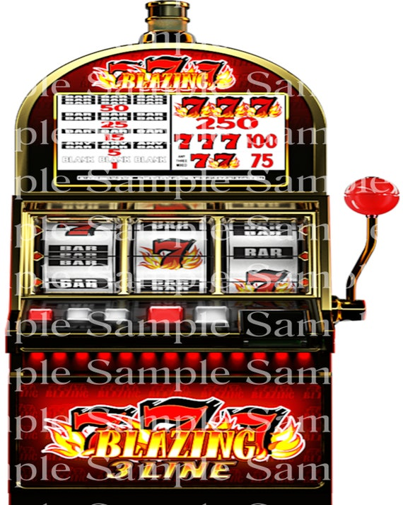 Slot Machine Casino Las Vegas Birthday - 2D Fondant Edible Cake & Cupcake Topper For Birthdays and Parties! - D24348