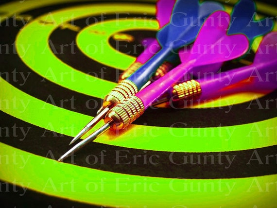 Darts Birthday - Edible Cake and Cupcake Topper For Birthday's and Parties! - D22991