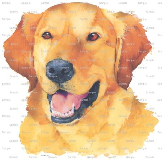 Golden Retriever Painting Dog Birthday ~ Edible 2D Fondant Birthday Cake/Cupcake Topper ~ D6413