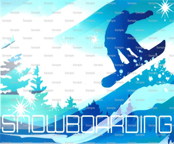 Snowboarding Birthday - Edible Cake and Cupcake Topper For Birthday's and Parties! - D1391