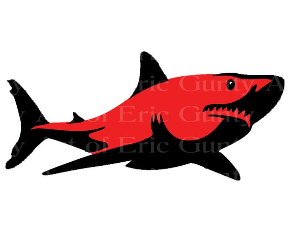 Great White Shark Birthday - Edible Cake and Cupcake Topper For Birthday's and Parties! - D22067