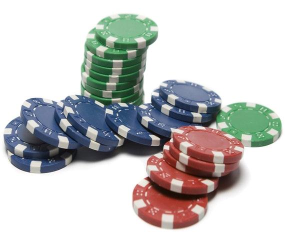 Casino Poker Chip Stack Birthday ~ Edible 2D Fondant Birthday Cake/Cupcake Topper ~ D7348