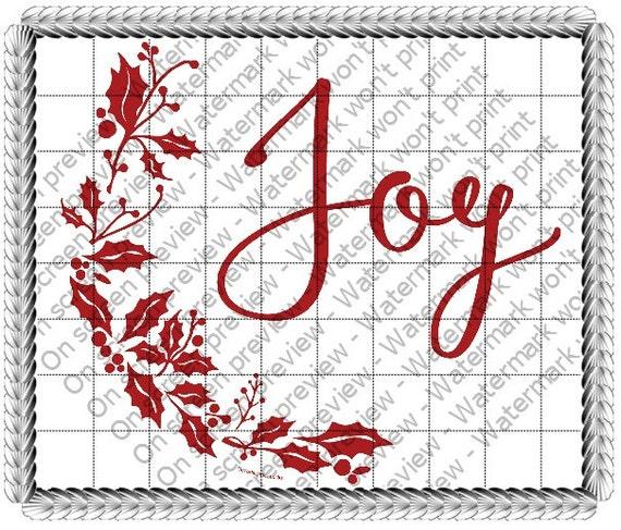 Joy Christmas ~ Edible 2D Fondant Birthday Cake/Cupcake Topper ~ D19171