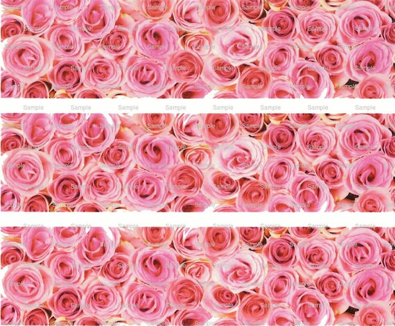 Flowers - Birthday Background - Side Strips - Edible Cake Side Toppers- Decorate The Sides of Your Cake! - D1156