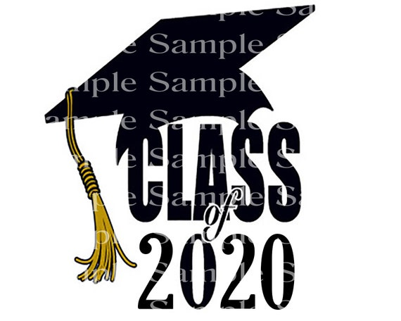 Class of 2020 Spring Graduation Cap - 2D Fondant Edible Cake & Cupcake Topper For Birthdays and Parties! - D24252