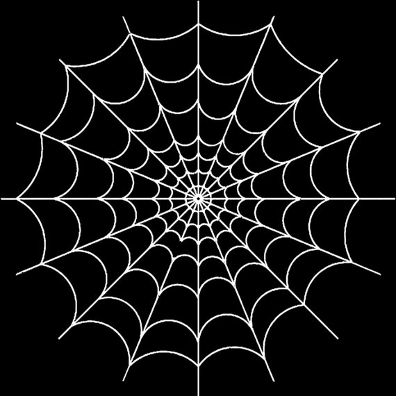 Spiderweb Halloween Birthday ~ Edible 2D Fondant Birthday Cake/Cupcake Topper ~ D24641