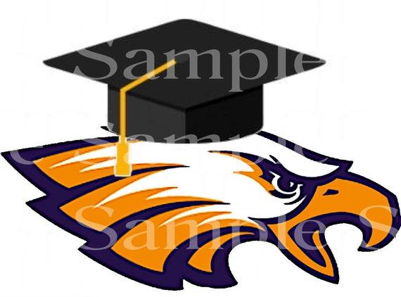 Eagle Mascot Graduation ~ Edible 2D Fondant Birthday Cake/Cupcake Topper ~ D24589