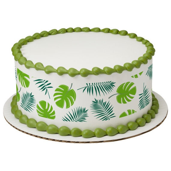 Spring Leaves Plants Birthday - Edible Cake Side Toppers- Decorate The Sides of Your Cake! - D24102