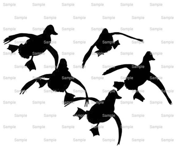 Landing Ducks Hunting Birthday ~ Edible 2D Fondant Birthday Cake/Cupcake Topper ~ D9962