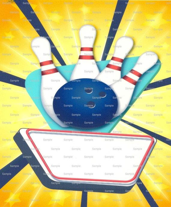 Bowling Birthday ~ Edible 2D Fondant Birthday Cake/Cupcake Topper ~ D1423