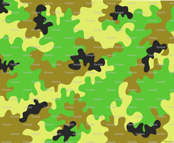 Green Camo Hunting Birthday ~ Edible 2D Fondant Birthday Cake/Cupcake Topper ~ D1124