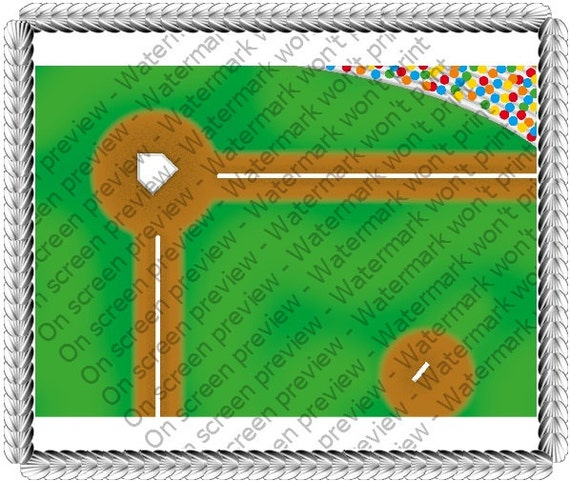 Baseball Diamond - Edible Cake and Cupcake Topper For Birthday's and Parties! - D20024
