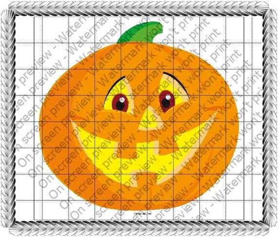 Smiling Pumpkin ~ Edible 2D Fondant Birthday Cake/Cupcake Topper ~ D267