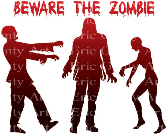 Halloween Beware of the Zombies Birthday - Edible Cake and Cupcake Topper For Birthday's and Parties! - D21637