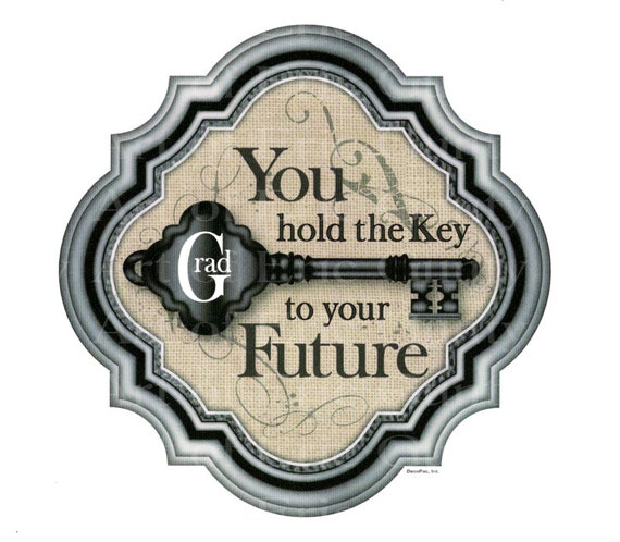 Key To The Future Graduation - Edible Cake and Cupcake Topper For Birthday's and Parties! - D22201