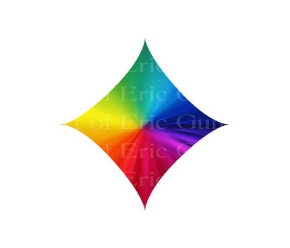 Las Vegas Rainbow Diamond Birthday ~ Edible 2D Fondant Birthday Cake/Cupcake Topper ~ D22781