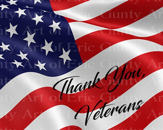 US Flag Veterans Day Birthday ~ Edible 2D Fondant Birthday Cake/Cupcake Topper ~ D24002