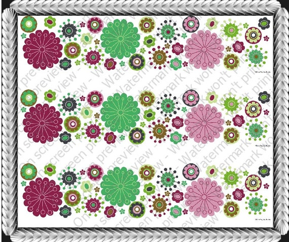 Spring Flowers - Designer Strips - Edible Cake Side Toppers- Decorate The Sides of Your Cake! - 549