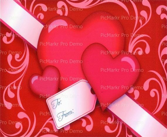 Valentine's Day ~ Edible 2D Fondant Birthday Cake/Cupcake Topper ~ D879