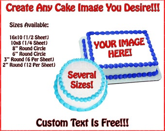 Custom Printed Edible Cake or Cupcakes Topper For Birthday's and Parties!  Look Like An All-star!