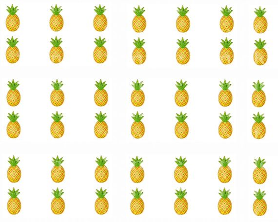 Pineapples - Side Strips - Edible 2D Fondant Cake Side Toppers- Decorate The Sides of Your Cake! - D24401
