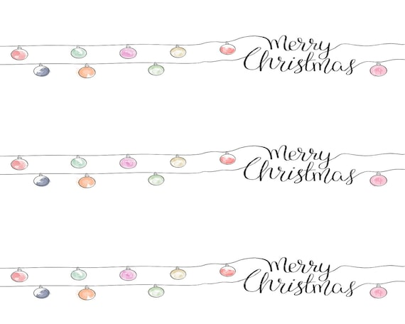 Merry Christmas Ornaments - Edible Cake Side Toppers- Decorate The Sides of Your Cake! - D24212