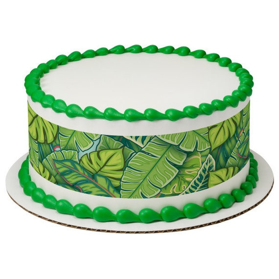 Jungle Plants Birthday - Edible Cake Side Toppers- Decorate The Sides of Your Cake! - D24098