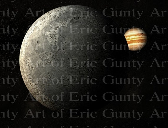 Jupiter's Moon From Space Birthday - Edible Cake and Cupcake Topper For Birthdays and Parties! - D24018