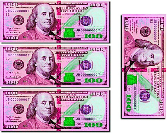Pink 100 Dollar Bill Pot of Gold Birthday ~ Edible 2D Fondant Birthday Cake/Cupcake Topper ~ D24687