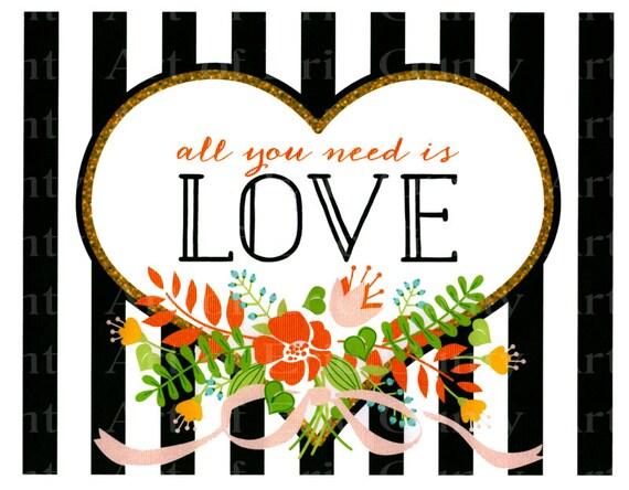 Love Valentine's Day ~ Edible 2D Fondant Birthday Cake/Cupcake Topper ~ D22342