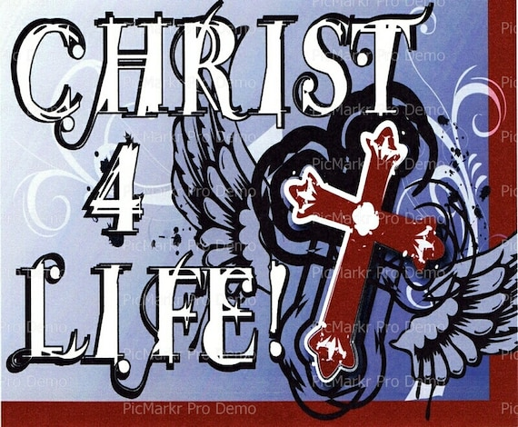 Christ 4 Life Religious - Edible Cake and Cupcake Topper For Birthday's and Parties! - D3042