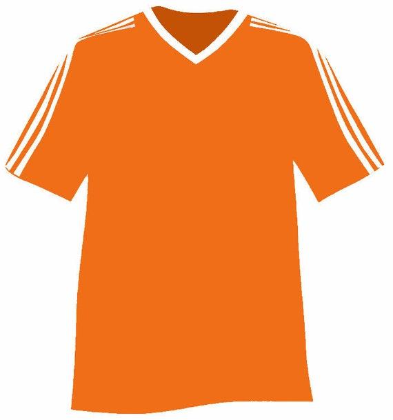 Orange Sports Jersey Birthday ~ Edible 2D Fondant Birthday Cake/Cupcake Topper ~ D24000