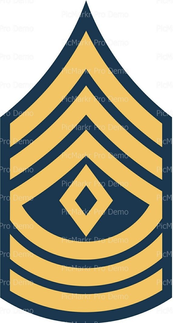 Army First Sargent Military Insignia Birthday ~ Edible 2D Fondant Birthday Cake/Cupcake Topper ~ D20496