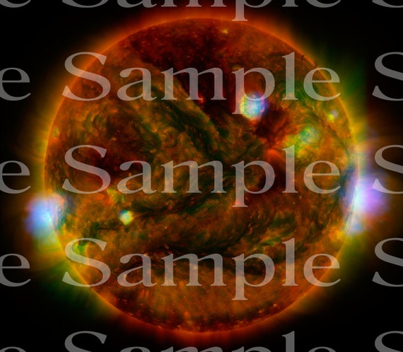 Sun Star Space Birthday ~ Edible 2D Fondant Birthday Cake/Cupcake Topper ~ D24598