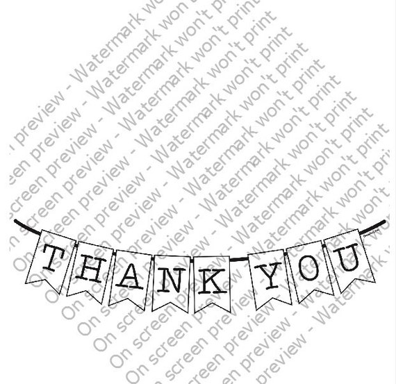 Thank You Banner - Edible Cake and Cupcake Photo Frame For Birthday's and Parties! - D201