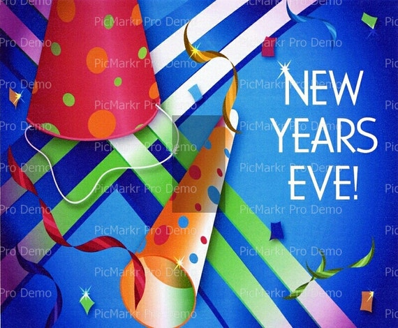 Happy New Years Eve - Edible Cake and Cupcake Topper For Birthday's and Parties! - D2264