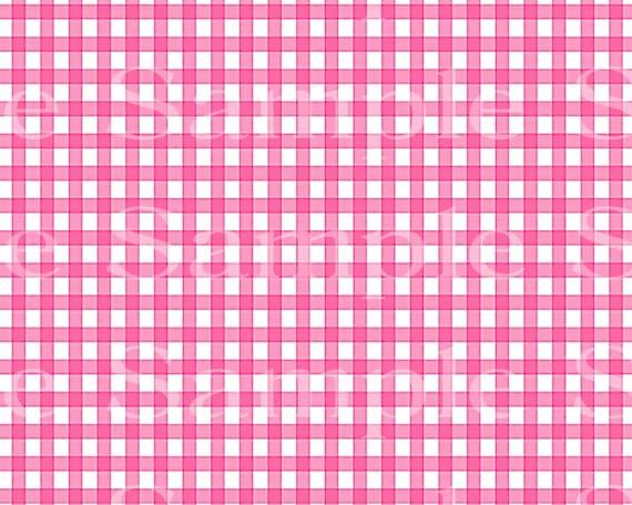 Pink Plaid Birthday ~ Edible 2D Fondant Birthday Cake/Cupcake Topper ~ D24529
