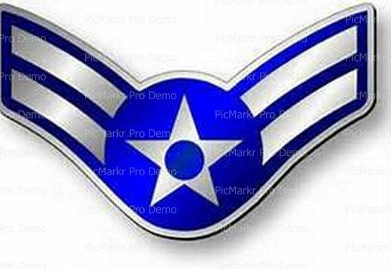 Air Force Airman 1st Class Insignia Birthday ~ Edible 2D Fondant Birthday Cake/Cupcake Topper ~ D20441