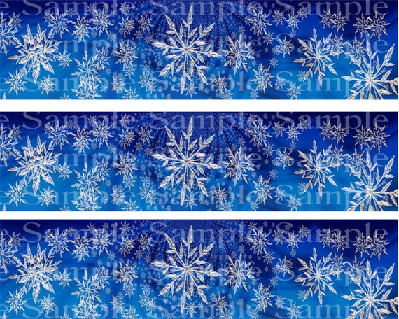 Snowflakes Christmas - Edible Cake Side Toppers- Decorate The Sides of Your Cake! - D24217
